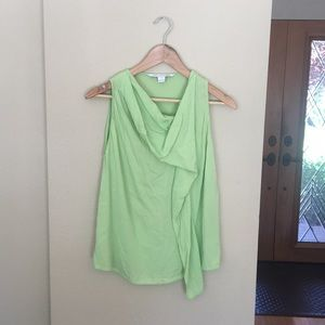 DVF lime Green silk top
